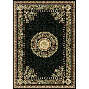 Online Reviews Bertie Power Loom Black/Gold/Pink Area Rug ByAugust Grove