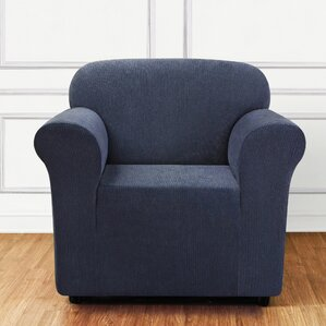 Sure Fit Ultimate Stretch Chenille Box Cushion Armchair Slipcover