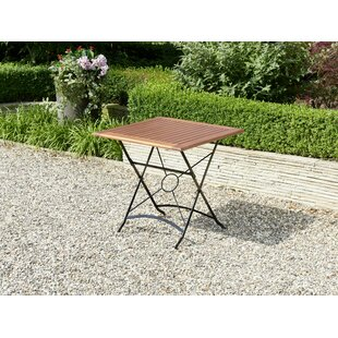 Edina Folding Steel Dining Table By Brambly Cottage