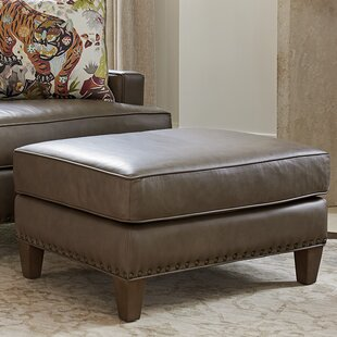 Tommy Bahama Home Cypress Point Leather Ottoman