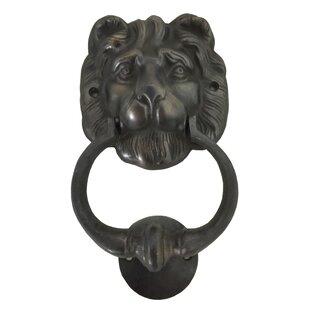 Genial Lion Head Brass Door Knocker