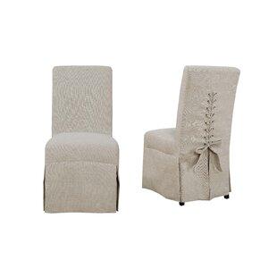 Benton Harbor Parsons Upholstered Dining Chair (Set of 2) Red Barrel Studio