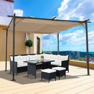 Padgett W 3.5m x D 3.5m Retractable Patio Cover Awning by Lynton Garden