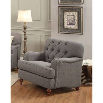 Retro Design Fauteuil.Darby Home Co Vintage Traditional Style Chair In Dark Grey Fabric