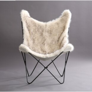 Foundry Select Byram Butterfly Faux Fur Cover Lounge Chair