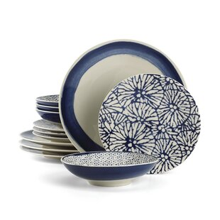 Market Place Indigo 12 Piece Set, Service for 4