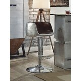 Marne Adjustable Height Swivel Bar Stool by 17 Stories