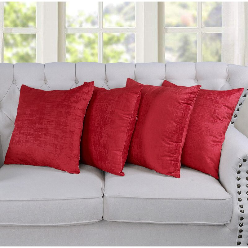 Red Single Bedspread Sofa Chair Cover Throw 2 Pillow Covers Tango Home Decor