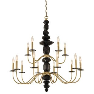 Piedra 2 Tier 15-Light Chandelier by Allegri by Kalco Lighting