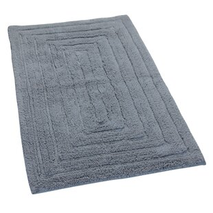 Check Prices Irving 100% Cotton Racetrack Spray Latex Back Bath Rug By The Twillery Co.