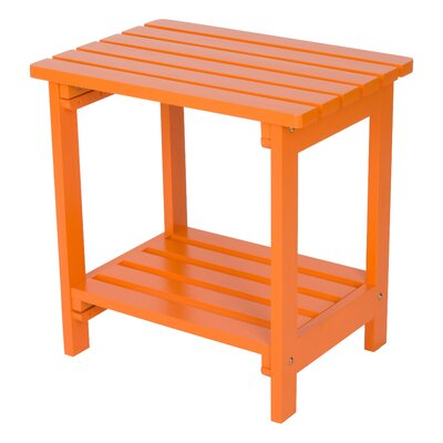 Arcel Wood Side Table Color: Tangerine by Beachcrest Home
