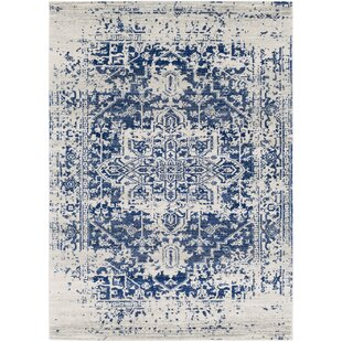 Top Reviews Hillsby Blue Area Rug By Mistana