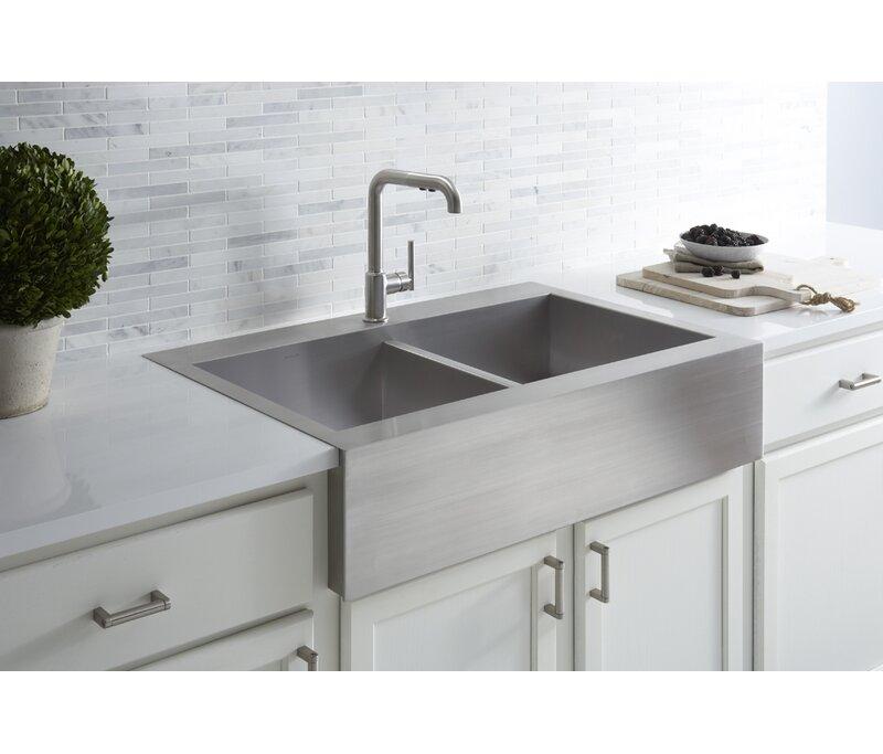 Tremendous Vault 36 L X 24 W Double Basins Farmhouse Kitchen Sink Download Free Architecture Designs Scobabritishbridgeorg