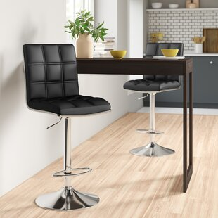 Miah Height Adjustable Bar Stool (Set Of 2) By Zipcode Design