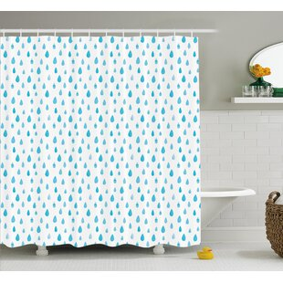 Rain Drop Decor Shower Curtain + Hooks