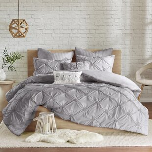 Siaosi Embroidered 7 Piece Duvet Cover Set