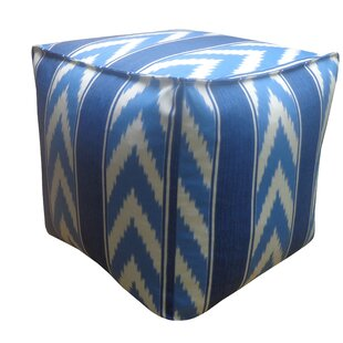 Ikat Stripe Outdoor Pouf