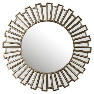 Bertrand Sunburst Resin Accent Wall Mirror
