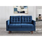 Brawith Velvet 58 Square Arms Loveseat by Latitude Run