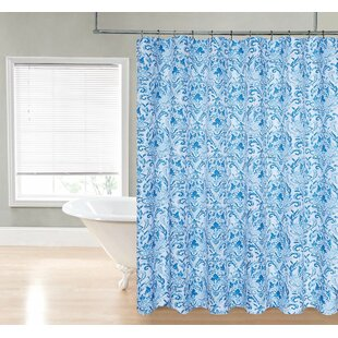 Loraine Damask Single Shower Curtain by Ebern Designs Great price