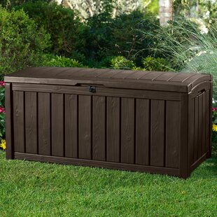 Glenwood 101 Gallon Resin Deck Box & Waterproof Outdoor Storage | Wayfair