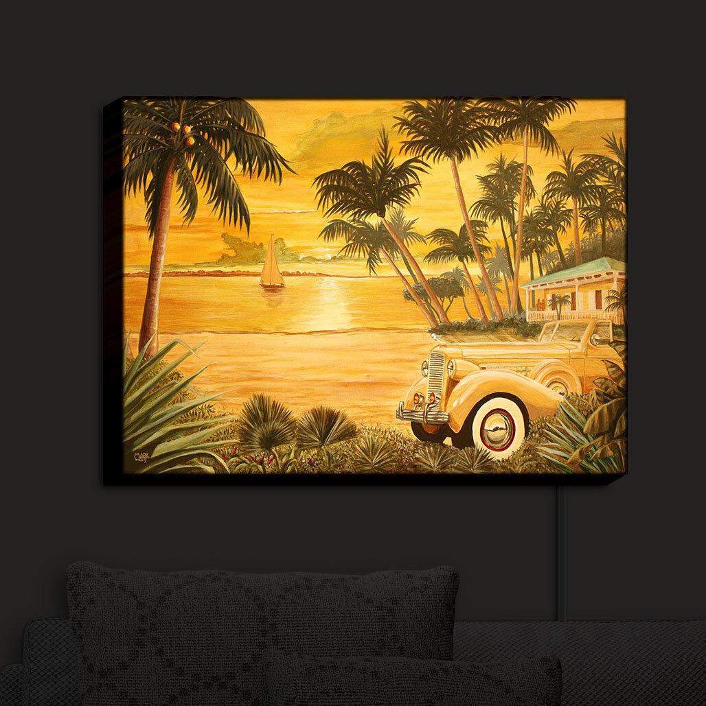 Bayou Breeze Tropical Getaway\' Print on Fabric | Wayfair