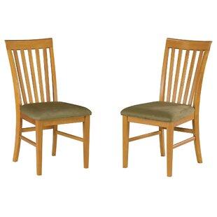 Red Barrel Studio Vadlamudi Solid Wood Dining Chair (Set of 2)