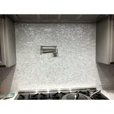 """0.6"""" X 1.2"""" Seashell Mosaic Tile Art3d"""