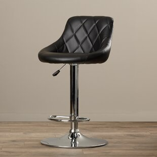 Wade Logan Clay Adjustable Height Swivel Bar Stool