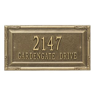 f28fbea67eb3 Brass Address Plaques & Signs You'll Love | Wayfair