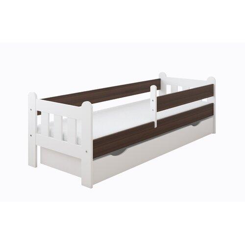 Funktionsbett Kacie mit Matratze und Schublade | Schlafzimmer > Betten > Funktionsbetten | Nut | Holz - Teilmassiv - Mdf | Harriet Bee