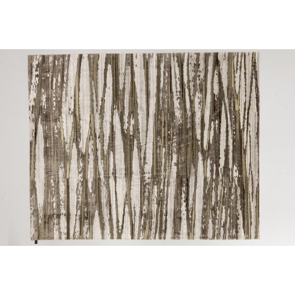 Solo Rugs Grit And Ground Abstract Hand Knotted Wool Cream Area Rug Wayfair