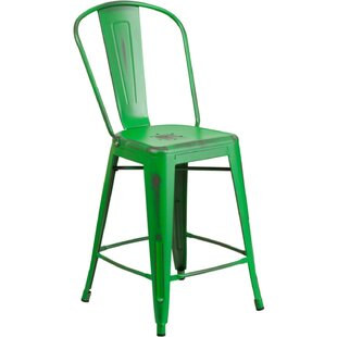 Williston Forge Mattias 24'' Patio Bar Stool