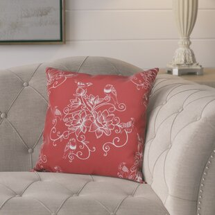Cecilia Morning Birds Floral Outdoor Throw Pillow
