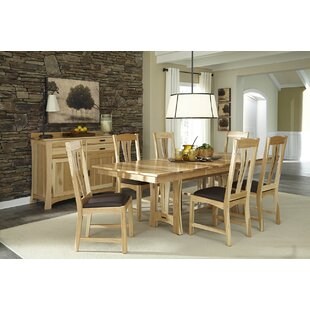 Lewistown Genuine Leather Upholstered Dining Chair (Set of 2)