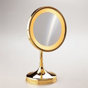 Round Pedestal Magnifying Mirror By Windisch by Nameeks