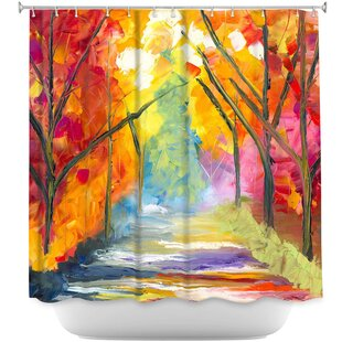 The Road Less Traveled Single Shower Curtain