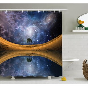 Space Galaxy with Star Meteors Single Shower Curtain