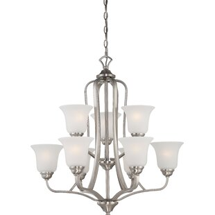 Charlton Home Hardin 9-Light Shaded Chandelier