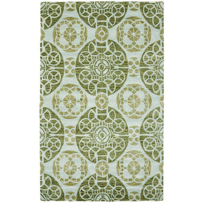 Safavieh Wyndham Geometric Handmade Tufted Wool Green Area Rug Reviews Perigold