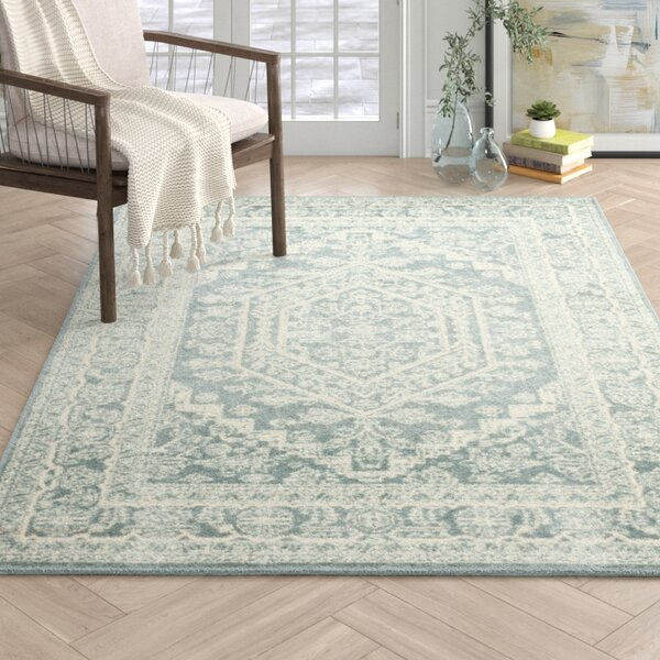 Connie Slate/Ivory Area Rug by Joss & Main