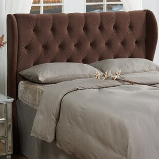 Yorkshire Upholstered Wingback Headboard by Three Posts