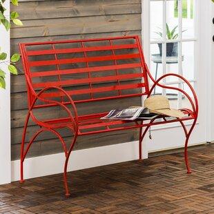 Carnegie Swirl Iron Garden Bench