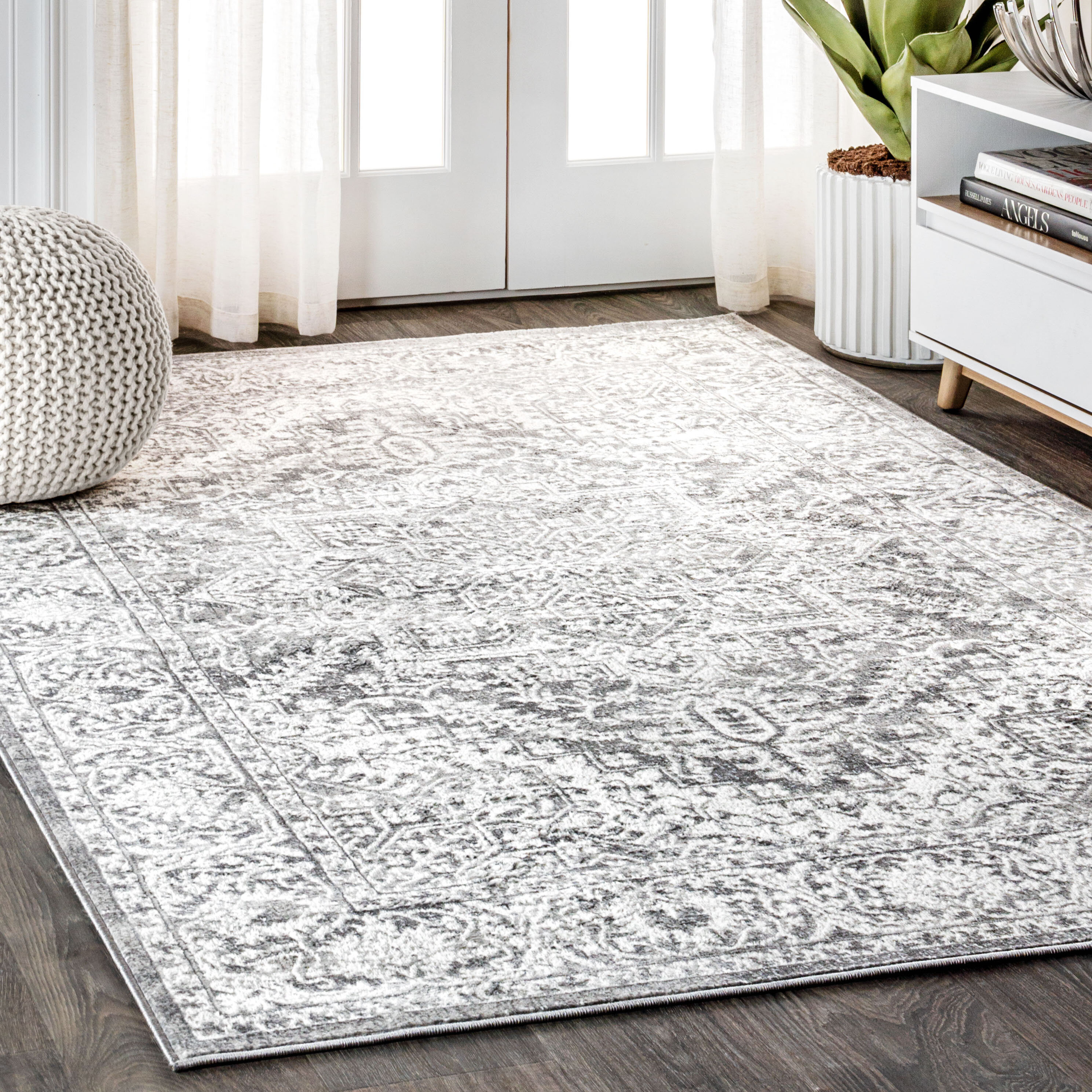 World Menagerie Blane Power Loom Light Gray Rug Reviews Wayfair