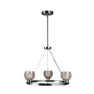 Crystal ball chandelier wayfair sadowski modern crystal ball 3 light wagon wheel chandelier mozeypictures
