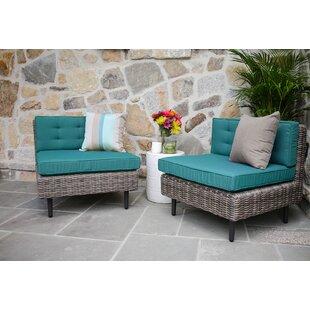 Brayden Studio Kenn Armless Chairs with Cushion (Set of 2)