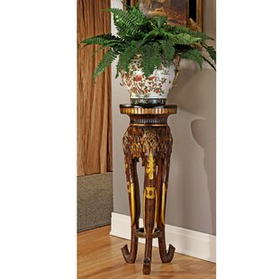 Compare prices Majestic Elephant Pedestal Plant Stand By Design Toscano