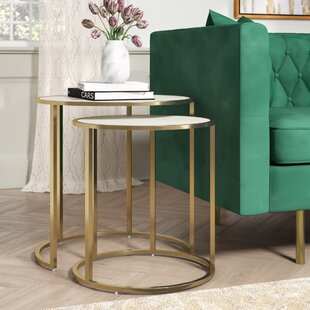 Best Reviews Flemingdon 2 Piece Nesting Tables By Everly Quinn