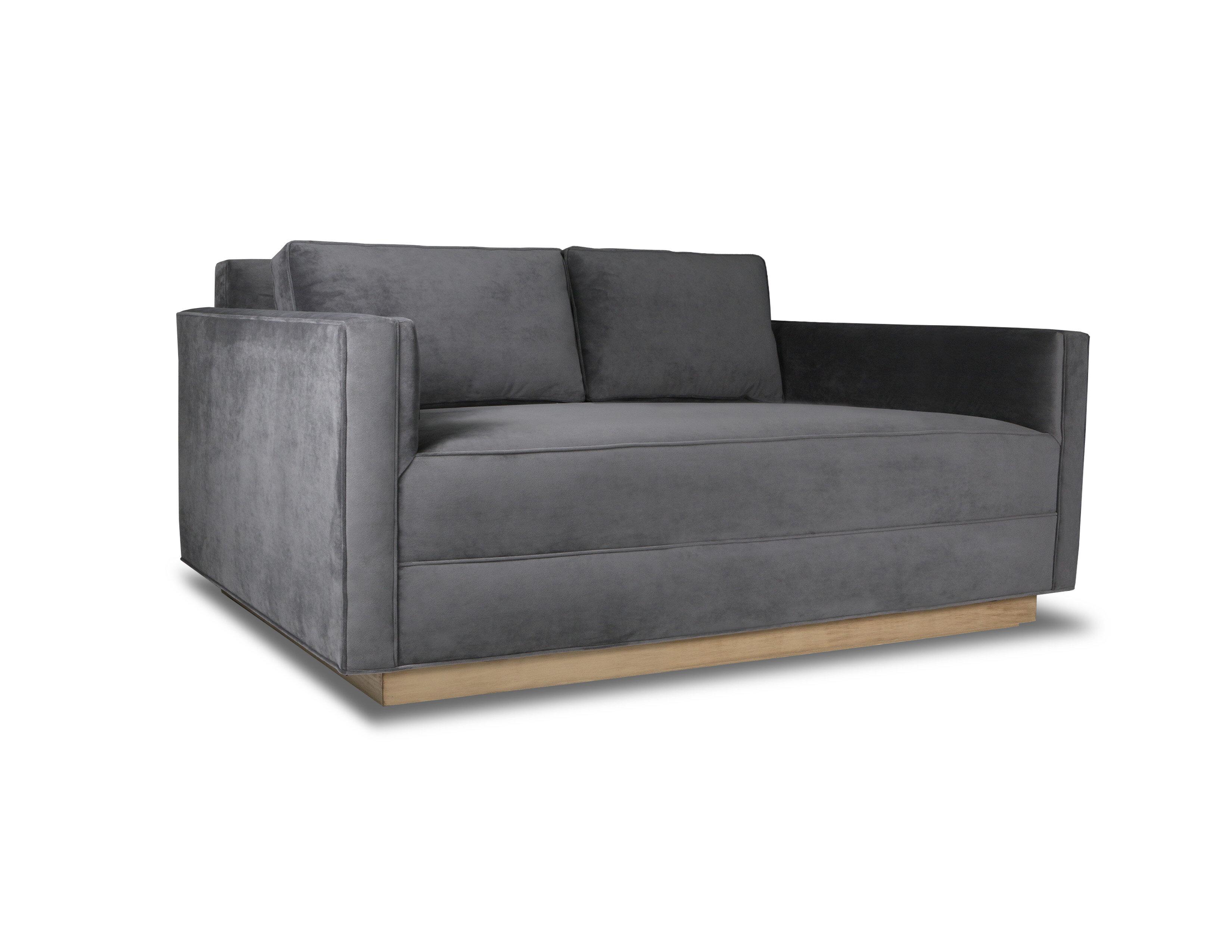Orren Ellis Picariello Velvet 72 Square Arm Sofa Wayfair