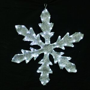 Lighted Indoor/Outdoor Tube Light Snowflake Christmas Decoration